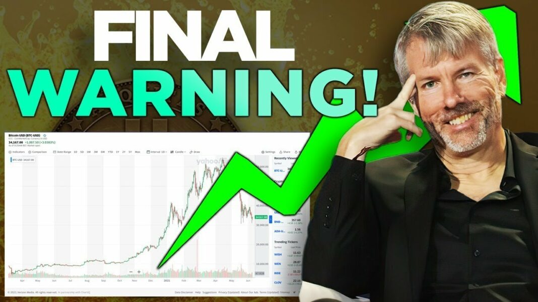 Michael Saylor Bitcoin Warning!!! What Exactly is Happening With Bitcoin Right Now